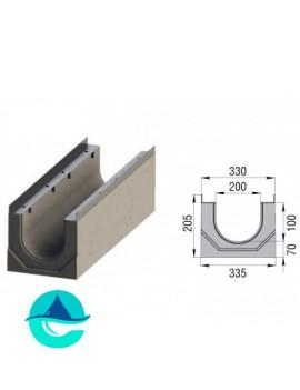 Лоток бетонный водоотводный ЛВК ВМ Sir 200 №0
