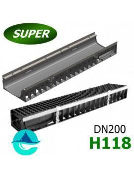 Gidrolica Super ЛВ-20.24,6.12 лоток пластиковый водоотводный