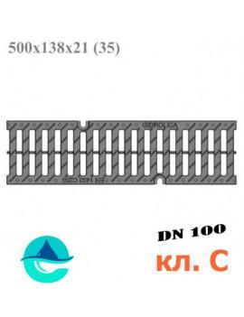 РВ-10.13,5.50 Gidrolica Pro пластиковая решетка щелевая