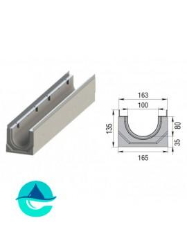 Лоток бетонный водоотводный ЛВК М Sir 100 № 0/05