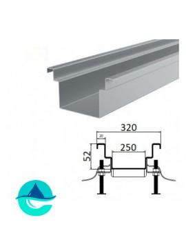 А250 (плоское дно) лоток из нержавеющей стали