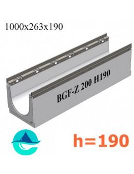 BGF-Z DN200 H190 лоток бетонный водоотводный