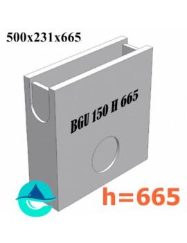 DN150 BGU 500/231/665 пескоуловитель бетонный