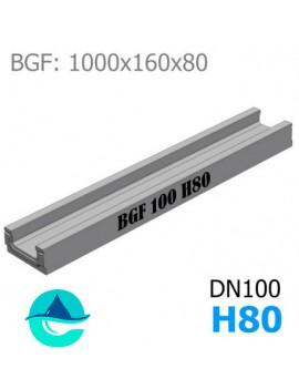 BGF DN100 H80 лоток бетонный водоотводный
