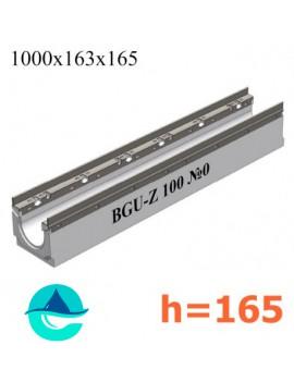 BGU-Z DN100 H165, № 0 лоток водоотводный бетонный