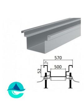 А500 (плоское дно) лоток из нержавеющей стали