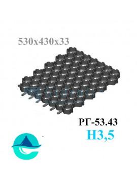 Решетка газонная Eco Normal РГ-53.43.3,5 - пластиковая черная