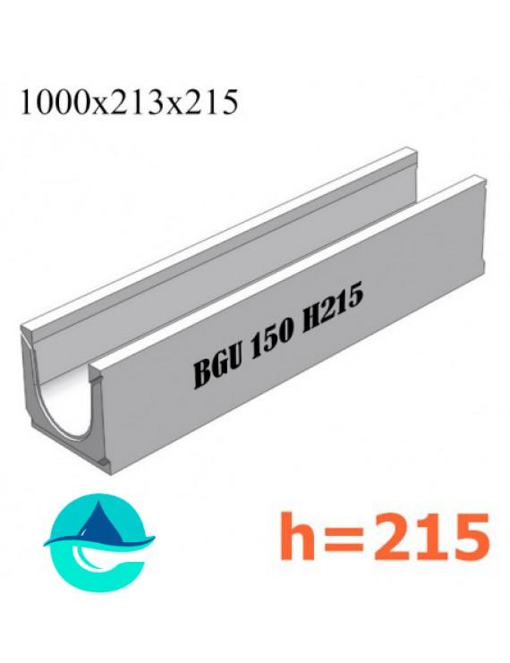 BGU DN150 H215 № 5-0 лоток бетонный водоотводный