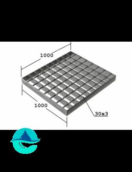 SP 1000х1000 30/3 34х38 Zn решетчатый сварной оцинкованный настил