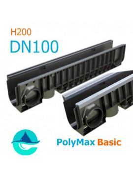 Лоток PolyMax Basic DN100 H200 - водоотводный пластиковый