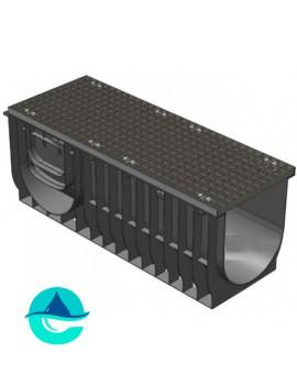 Light ЛВ-30.38.48 лоток пластиковый водоотводный с решеткой стальной оцинкованной ячеистой